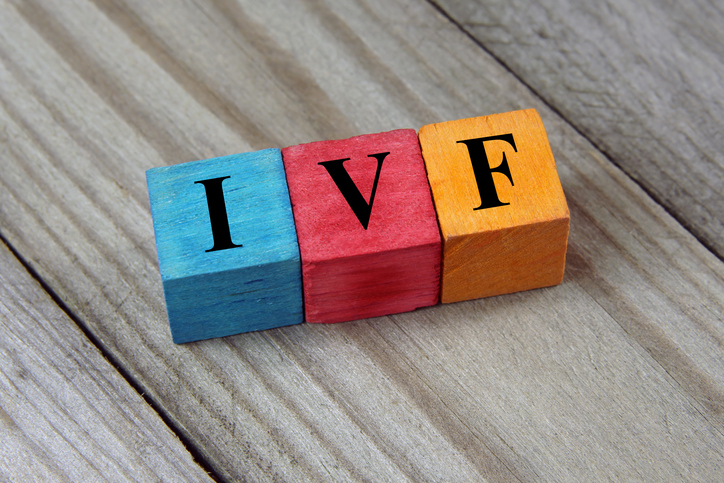 IVF acronym on colorful wooden cubes